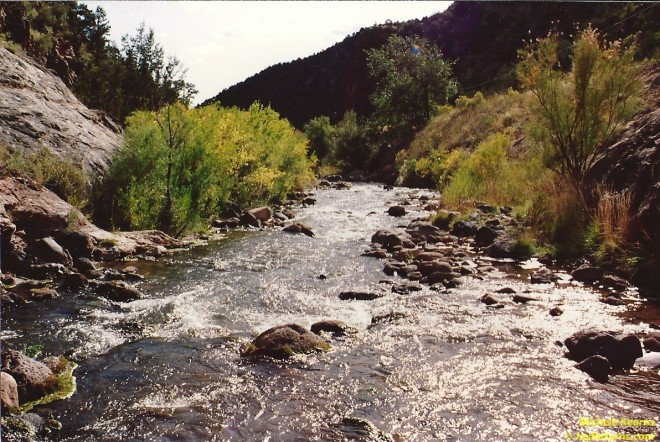 """Downstream From Soda Dam"" - October 1992 Santa Fe National Forest, Jemez Springs, NM"