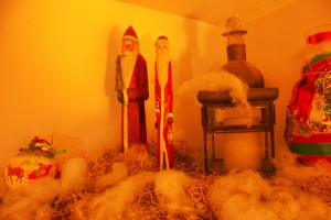 Corner Cupboard Rustic Christmas